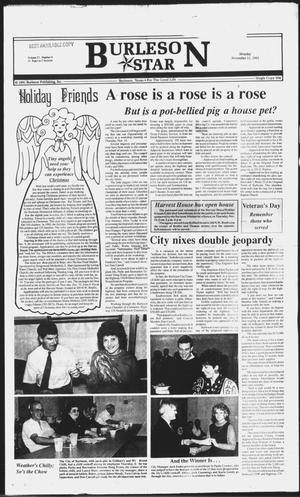 Primary view of object titled 'Burleson Star (Burleson, Tex.), Vol. 27, No. 9, Ed. 1 Monday, November 11, 1991'.