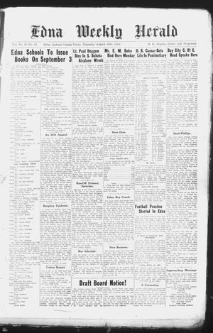 Primary view of object titled 'Edna Weekly Herald (Edna, Tex.), Vol. 41, No. 42, Ed. 1 Thursday, August 26, 1948'.