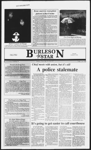 Primary view of object titled 'Burleson Star (Burleson, Tex.), Vol. 27, No. 6, Ed. 1 Thursday, October 31, 1991'.