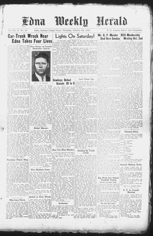 Primary view of object titled 'Edna Weekly Herald (Edna, Tex.), Vol. 41, No. 48, Ed. 1 Thursday, October 7, 1948'.