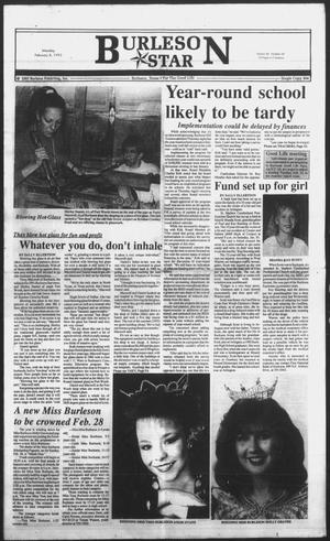 Primary view of object titled 'Burleson Star (Burleson, Tex.), Vol. 28, No. 34, Ed. 1 Monday, February 8, 1993'.