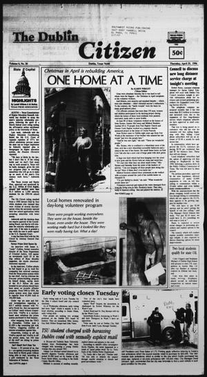 Primary view of object titled 'The Dublin Citizen (Dublin, Tex.), Vol. 6, No. 34, Ed. 1 Thursday, April 25, 1996'.