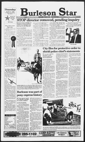 Primary view of object titled 'Burleson Star (Burleson, Tex.), Vol. 30, No. 103, Ed. 1 Thursday, October 5, 1995'.