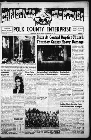 Primary view of object titled 'Polk County Enterprise (Livingston, Tex.), Vol. 73, No. 14, Ed. 1 Thursday, December 23, 1954'.