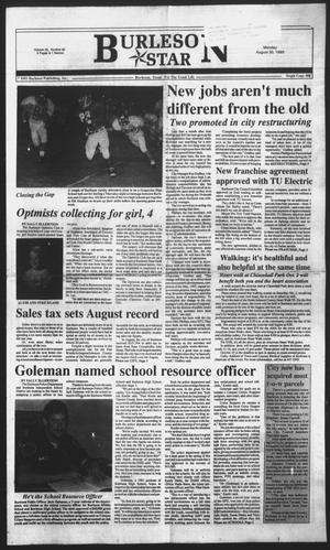 Primary view of object titled 'Burleson Star (Burleson, Tex.), Vol. 28, No. 92, Ed. 1 Monday, August 30, 1993'.