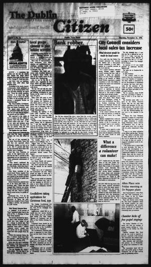 Primary view of object titled 'The Dublin Citizen (Dublin, Tex.), Vol. 7, No. 12, Ed. 1 Thursday, November 14, 1996'.