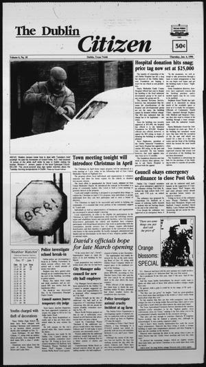 Primary view of The Dublin Citizen (Dublin, Tex.), Vol. 6, No. 18, Ed. 1 Thursday, January 4, 1996