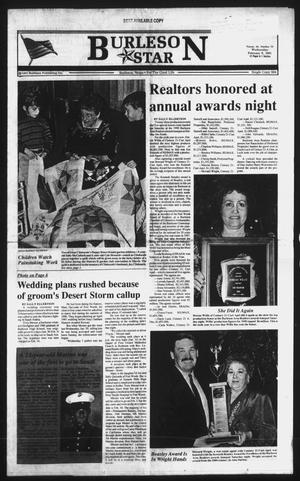 Primary view of object titled 'Burleson Star (Burleson, Tex.), Vol. 26, No. 50, Ed. 1 Wednesday, February 6, 1991'.