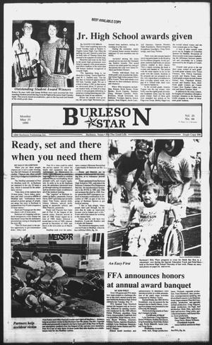 Primary view of object titled 'Burleson Star (Burleson, Tex.), Vol. 25, No. 94, Ed. 1 Monday, May 21, 1990'.