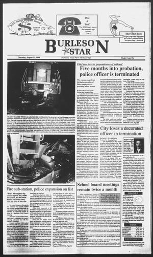 Primary view of object titled 'Burleson Star (Burleson, Tex.), Ed. 1 Thursday, August 11, 1994'.
