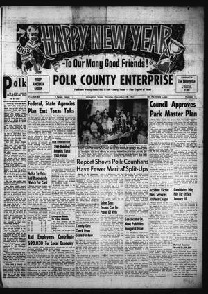 Primary view of object titled 'Polk County Enterprise (Livingston, Tex.), Vol. 80, No. 16, Ed. 1 Thursday, December 28, 1961'.