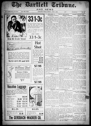 Primary view of object titled 'The Bartlett Tribune and News (Bartlett, Tex.), Vol. 42, No. 48, Ed. 1, Friday, June 8, 1928'.