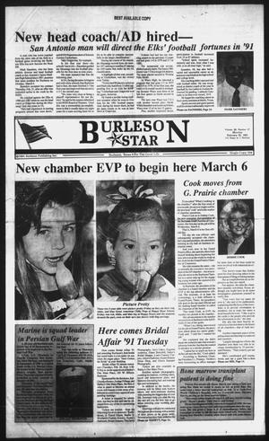 Primary view of object titled 'Burleson Star (Burleson, Tex.), Vol. 26, No. 57, Ed. 1 Monday, February 25, 1991'.