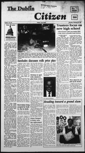 Primary view of The Dublin Citizen (Dublin, Tex.), Vol. 7, No. 25, Ed. 1 Thursday, February 20, 1997