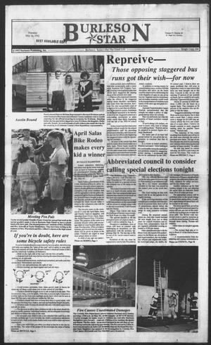 Primary view of object titled 'Burleson Star (Burleson, Tex.), Vol. 27, No. 60, Ed. 1 Thursday, May 14, 1992'.
