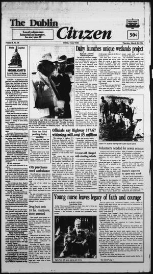 Primary view of The Dublin Citizen (Dublin, Tex.), Vol. 6, No. 30, Ed. 1 Thursday, March 28, 1996