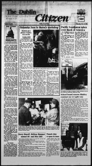 Primary view of object titled 'The Dublin Citizen (Dublin, Tex.), Vol. 6, No. 25, Ed. 1 Thursday, February 22, 1996'.