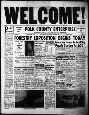 Primary view of object titled 'Polk County Enterprise (Livingston, Tex.), Vol. 79, No. 4, Ed. 1 Thursday, October 6, 1960'.