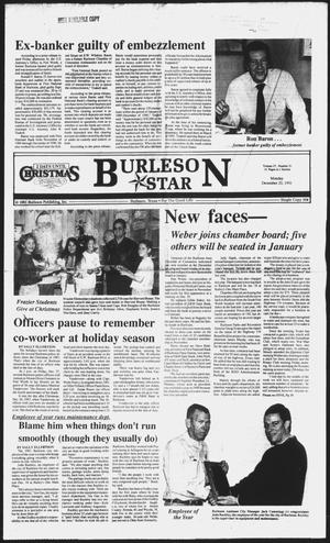 Primary view of object titled 'Burleson Star (Burleson, Tex.), Vol. 27, No. 21, Ed. 1 Monday, December 23, 1991'.