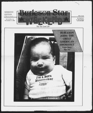 Primary view of object titled 'Burleson Star (Burleson, Tex.), Vol. 26, No. 14, Ed. 1 Friday, November 9, 1990'.