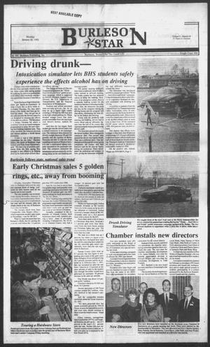 Primary view of Burleson Star (Burleson, Tex.), Vol. 27, No. 28, Ed. 1 Monday, January 20, 1992