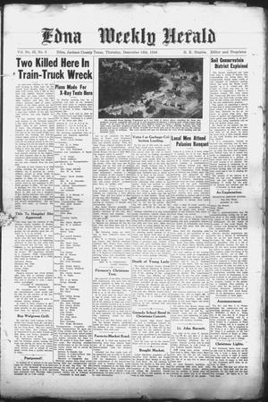 Primary view of object titled 'Edna Weekly Herald (Edna, Tex.), Vol. 42, No. 6, Ed. 1 Thursday, December 16, 1948'.