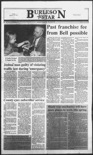 Primary view of object titled 'Burleson Star (Burleson, Tex.), Vol. 28, No. 28, Ed. 1 Monday, January 18, 1993'.