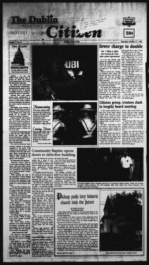 Primary view of object titled 'The Dublin Citizen (Dublin, Tex.), Vol. 7, No. 8, Ed. 1 Thursday, October 17, 1996'.