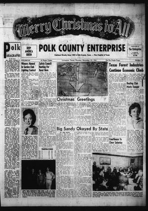 Primary view of object titled 'Polk County Enterprise (Livingston, Tex.), Vol. 80, No. 15, Ed. 1 Thursday, December 21, 1961'.