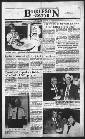 Primary view of object titled 'Burleson Star (Burleson, Tex.), Vol. 29, No. 12, Ed. 1 Monday, November 22, 1993'.