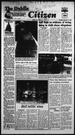 Primary view of object titled 'The Dublin Citizen (Dublin, Tex.), Vol. 7, No. 14, Ed. 1 Wednesday, November 27, 1996'.