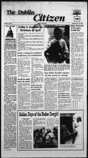Primary view of The Dublin Citizen (Dublin, Tex.), Vol. 6, No. 26, Ed. 1 Thursday, February 29, 1996