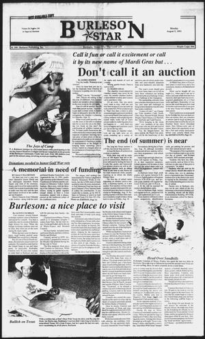 Primary view of object titled 'Burleson Star (Burleson, Tex.), Vol. 26, No. 104, Ed. 1 Monday, August 5, 1991'.