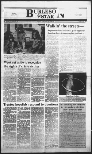 Primary view of object titled 'Burleson Star (Burleson, Tex.), Vol. 28, No. 56, Ed. 1 Monday, April 26, 1993'.
