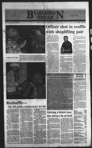 Primary view of object titled 'Burleson Star (Burleson, Tex.), Vol. 28, No. 19, Ed. 1 Thursday, December 17, 1992'.
