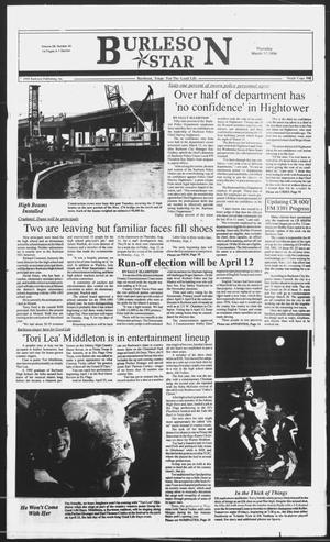 Primary view of object titled 'Burleson Star (Burleson, Tex.), Vol. 29, No. 45, Ed. 1 Thursday, March 17, 1994'.