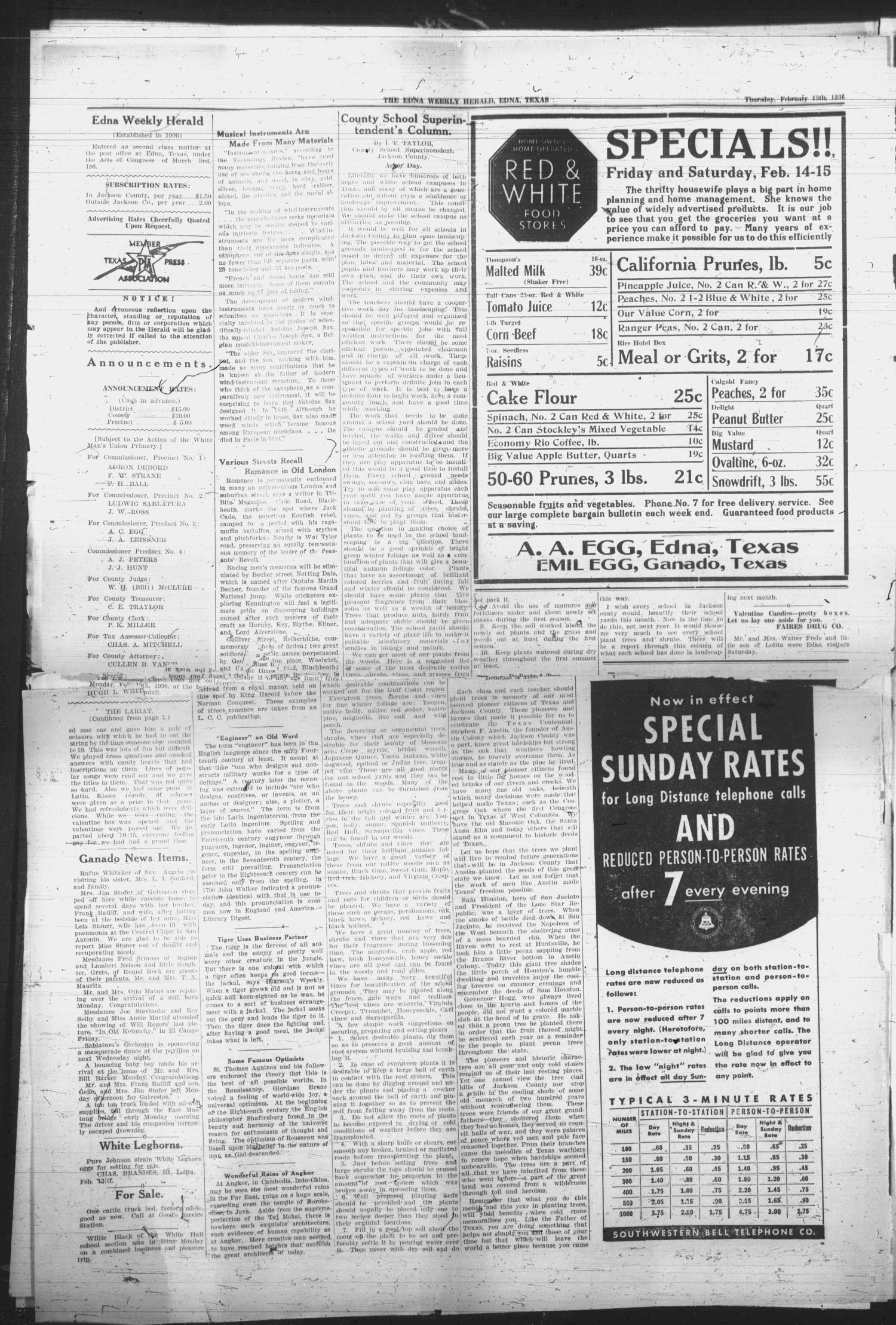 Edna Weekly Herald  (Edna, Tex ), Vol  28, No  49, Ed  1