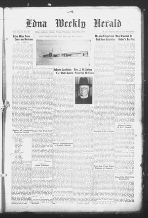 Primary view of object titled 'Edna Weekly Herald (Edna, Tex.), Vol. 40, No. 33, Ed. 1 Thursday, June 26, 1947'.