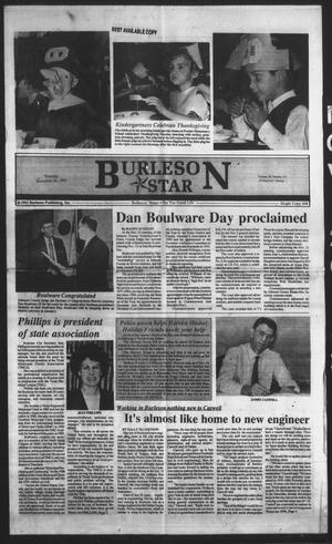 Primary view of object titled 'Burleson Star (Burleson, Tex.), Vol. 28, No. 13, Ed. 1 Thursday, November 26, 1992'.
