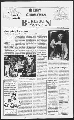 Primary view of object titled 'Burleson Star (Burleson, Tex.), Ed. 1 Thursday, December 22, 1994'.