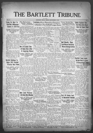 Primary view of object titled 'The Bartlett Tribune and News (Bartlett, Tex.), Vol. 47, No. 1, Ed. 1, Friday, September 1, 1933'.