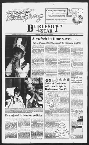 Primary view of object titled 'Burleson Star (Burleson, Tex.), Ed. 1 Thursday, November 24, 1994'.