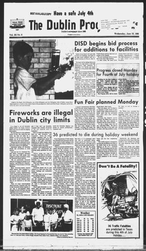 Primary view of object titled 'The Dublin Progress (Dublin, Tex.), Vol. 101, No. 6, Ed. 1 Wednesday, June 29, 1988'.