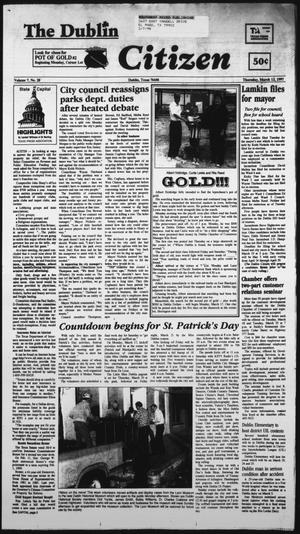 Primary view of object titled 'The Dublin Citizen (Dublin, Tex.), Vol. 7, No. 28, Ed. 1 Thursday, March 13, 1997'.