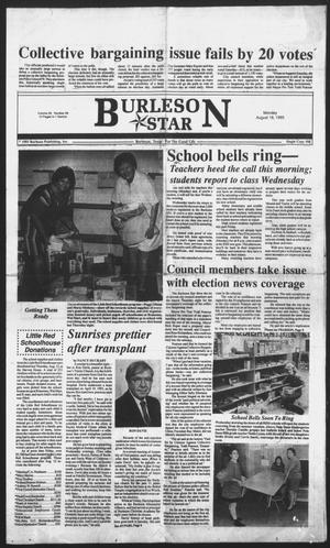 Primary view of object titled 'Burleson Star (Burleson, Tex.), Vol. 28, No. 88, Ed. 1 Monday, August 16, 1993'.