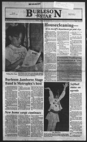 Primary view of object titled 'Burleson Star (Burleson, Tex.), Vol. 28, No. 12, Ed. 1 Monday, November 23, 1992'.