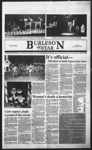 Primary view of object titled 'Burleson Star (Burleson, Tex.), Vol. 29, No. 21, Ed. 1 Thursday, December 23, 1993'.