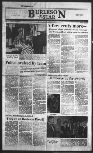 Primary view of object titled 'Burleson Star (Burleson, Tex.), Vol. 28, No. 9, Ed. 1 Thursday, November 12, 1992'.