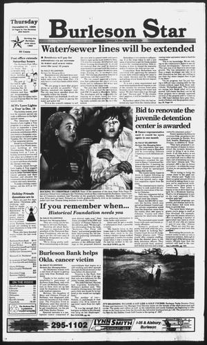 Primary view of object titled 'Burleson Star (Burleson, Tex.), Vol. 31, No. 19, Ed. 1 Thursday, December 14, 1995'.