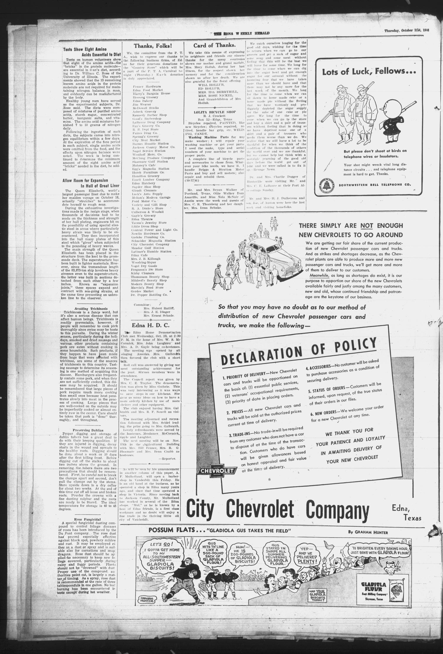 Edna Weekly Herald (Edna, Tex.), Vol. 39, No. 51, Ed. 1 Thursday ...